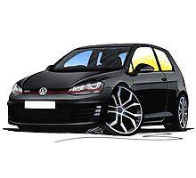 VW Golf (Mk7) GTi Black Photographic Print