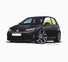 VW Golf (Mk7) GTi Black Kids Clothes