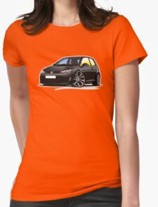 VW Golf (Mk7) GTi Black Womens Fitted T-Shirt
