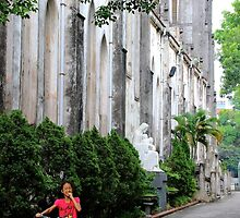 The Child & the Church - Hanoi, Vietnam. by Tiffany Lenoir