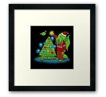 Cthulhu Christmas Framed Print