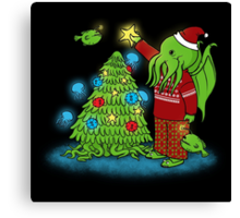 Cthulhu Christmas Canvas Print