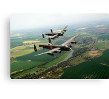 Two Lancasters over the Upper Thames Canvas Print