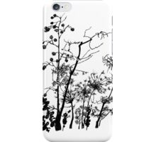 black&white flowers theme iPhone Case/Skin