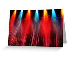 Liquid Fireworks Greeting Card