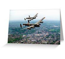Two Lancasters over High Wycombe Greeting Card