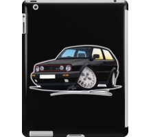 VW Golf GTi (Mk2) Black iPad Case/Skin