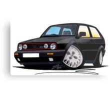 VW Golf GTi (Mk2) Black Metal Print
