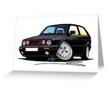 VW Golf GTi (Mk2) Black Greeting Card