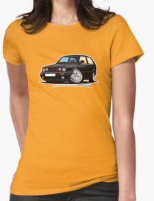 VW Golf GTi (Mk2) Black Womens Fitted T-Shirt
