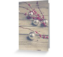 Holly Branch and Holiday Ornaments Greeting Card