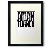 Aidan Turner Framed Print