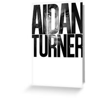 Aidan Turner Greeting Card