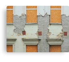 Empty House Abstract Canvas Print