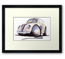 VW Beetle - Herbie Framed Print