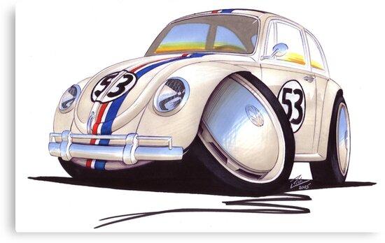 VW Beetle - Herbie by Richard Yeomans