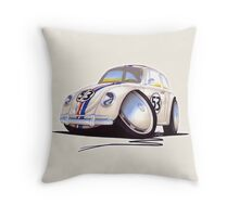 VW Beetle - Herbie Throw Pillow