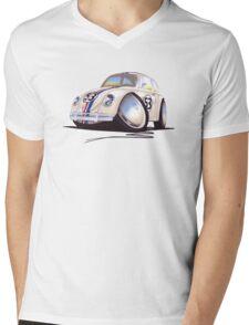 VW Beetle - Herbie Mens V-Neck T-Shirt