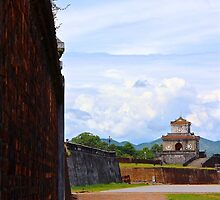The Wall of The Imperial City - Hue, Vietnam. by Tiffany Lenoir