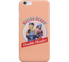 Roller Derby Double Header iPhone Case/Skin