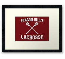 Beacon Hills Lacrosse Framed Print