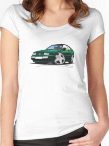 VW Corrado Green Women's Fitted Scoop T-Shirt
