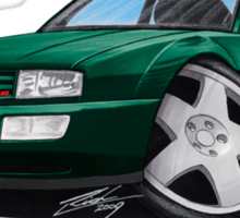 VW Corrado Green Sticker