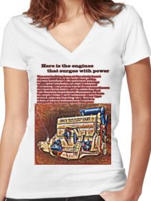 1937 Buick Straight Eight Women's Fitted V-Neck T-Shirt