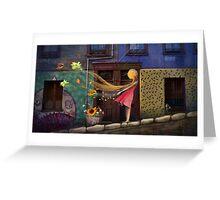 """Valparaiso"" Illustration M.Konecka for ""Destin de carte postale"" Greeting Card"