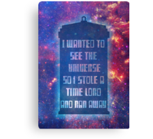 See the Universe Canvas Print