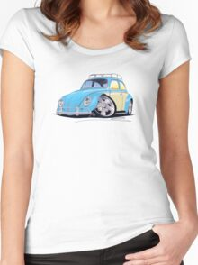 VW Beetle (Custom B) Women's Fitted Scoop T-Shirt