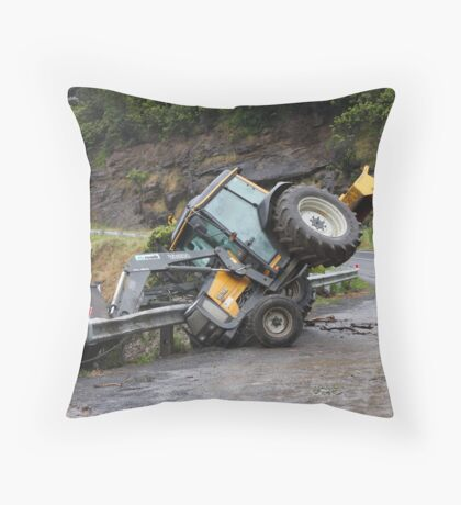 Tractor Mishap Throw Pillow