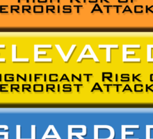 The Homeland Security Advisory System scale Sticker