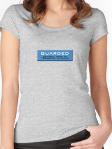 Guarded (Homeland Security Advisory System chart) Women's Fitted Scoop T-Shirt