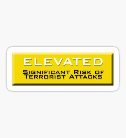 Elevated (Homeland Security Advisory System chart) Sticker