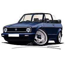 VW Golf (Mk1) Cabriolet Dark Blue Photographic Print