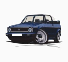 VW Golf (Mk1) Cabriolet Dark Blue Kids Tee