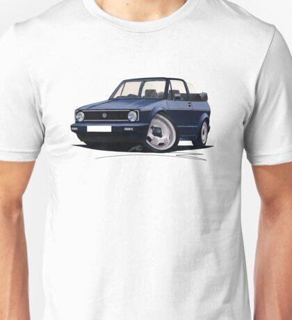 VW Golf (Mk1) Cabriolet Dark Blue Unisex T-Shirt
