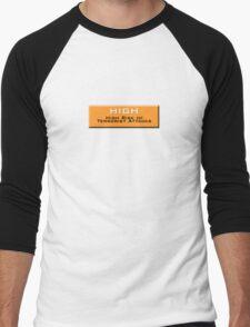 High (Homeland Security Advisory System chart) Men's Baseball ¾ T-Shirt