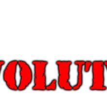 REVOLUTION gets shit done! (Dark BG) Sticker