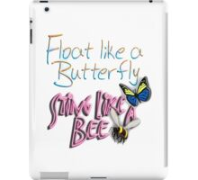 Float Like a Butterfly, Sting like a Bee, The Greatest, Boxer, Muhammad Ali, Cassius Clay, on WHITE iPad Case/Skin