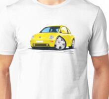 VW New Beetle Yellow Unisex T-Shirt