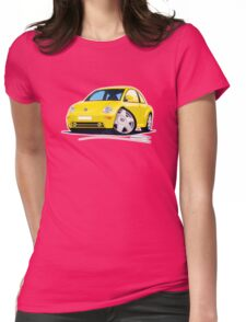VW New Beetle Yellow Womens Fitted T-Shirt