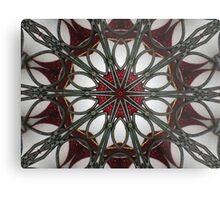 Kandy Kane Kaleidoscope Metal Print