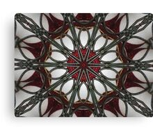 Kandy Kane Kaleidoscope Canvas Print