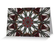 Kandy Kane Kaleidoscope Greeting Card