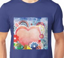 Grunge Valentines day card with hearts 5 Unisex T-Shirt