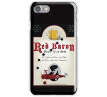 Red Baron Beer Garden iPhone Case/Skin