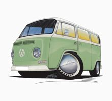 VW Bay Window Camper Van Light Green by Richard Yeomans