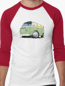 VW Bay Window Camper Van Light Green Men's Baseball ¾ T-Shirt